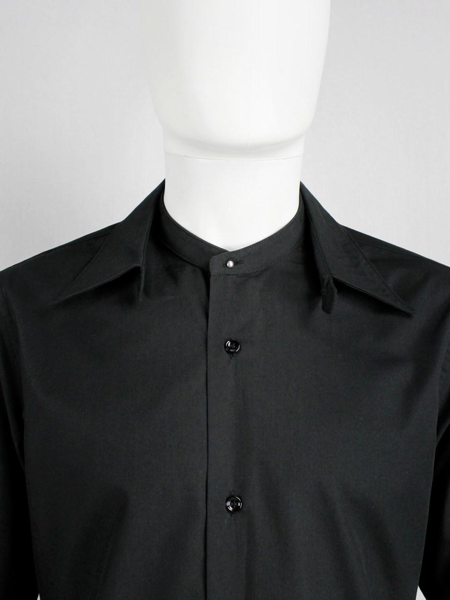 vintage Maison Martin Margiela black shirt with detacheable collar — fall 2002