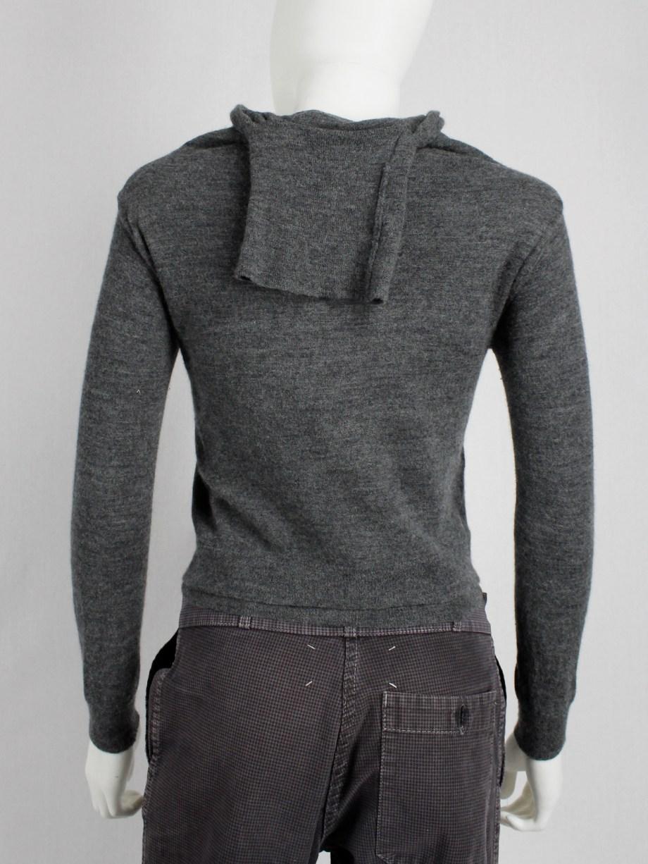 Maison Martin Margiela grey jumper made of a turtleneck jumper — fall 2002