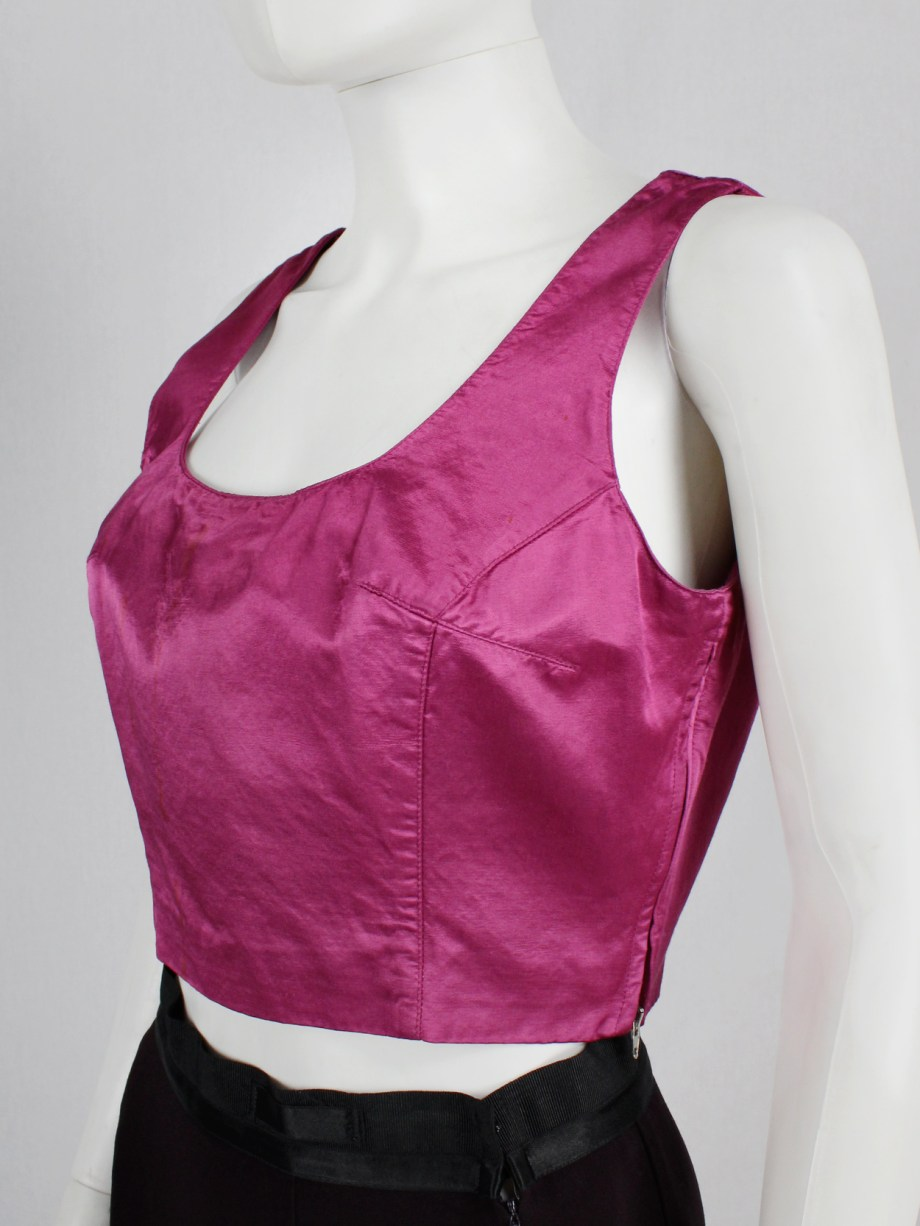Maison Martin Margiela pink corset top with weighted inner — spring 1995
