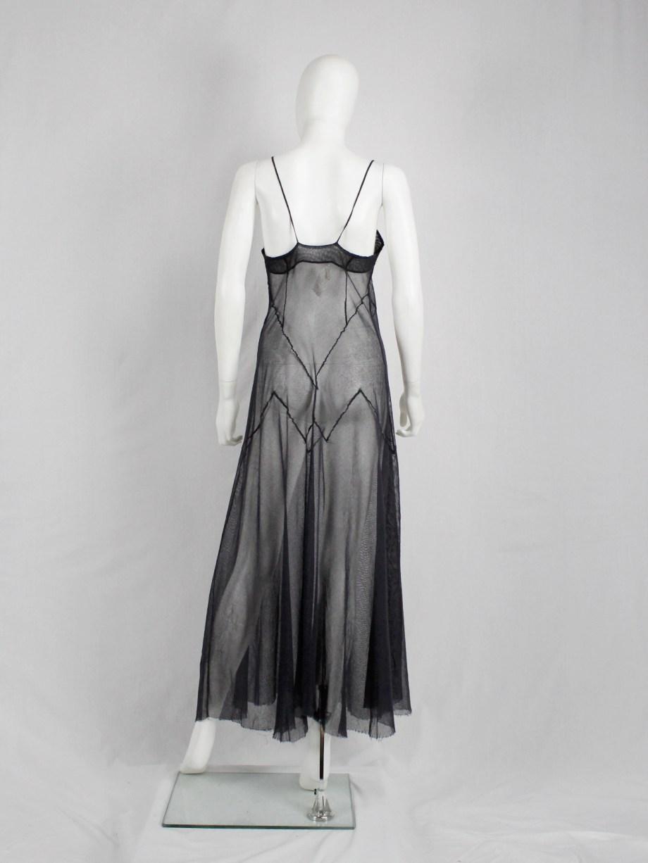 vaniitas Maison Martin Margiela reproduction of a spring 1991 black sheer dress spring 1994 (4)