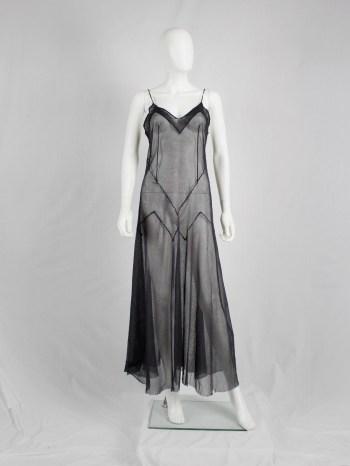 Maison Martin Margiela reproduction of a spring 1991 black sheer dress — spring 1994