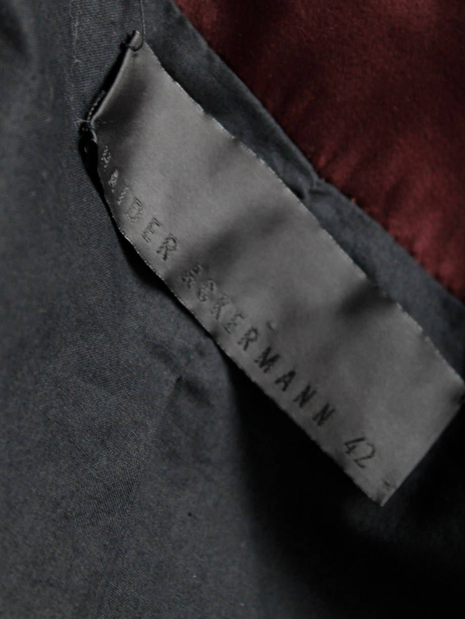 Haider Ackermann burgundy jacket with double front zipper fall 2009 (16)