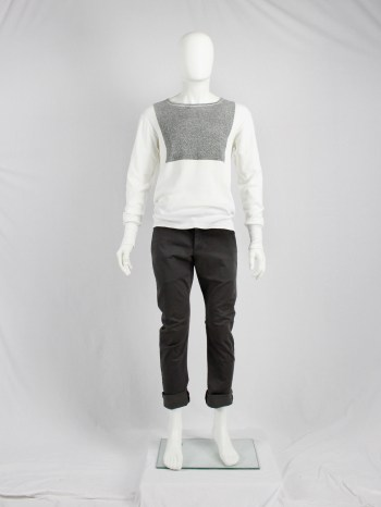 Maison Martin Margiela artisanal jumper with printed grey texture