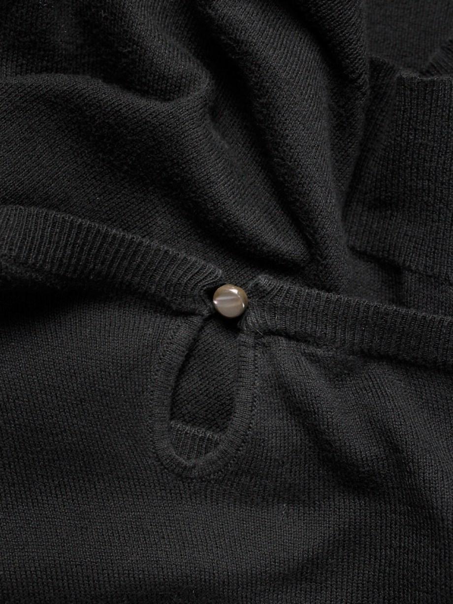 Maison Martin Margiela black longsleeve jumper worn sideways — spring 2005