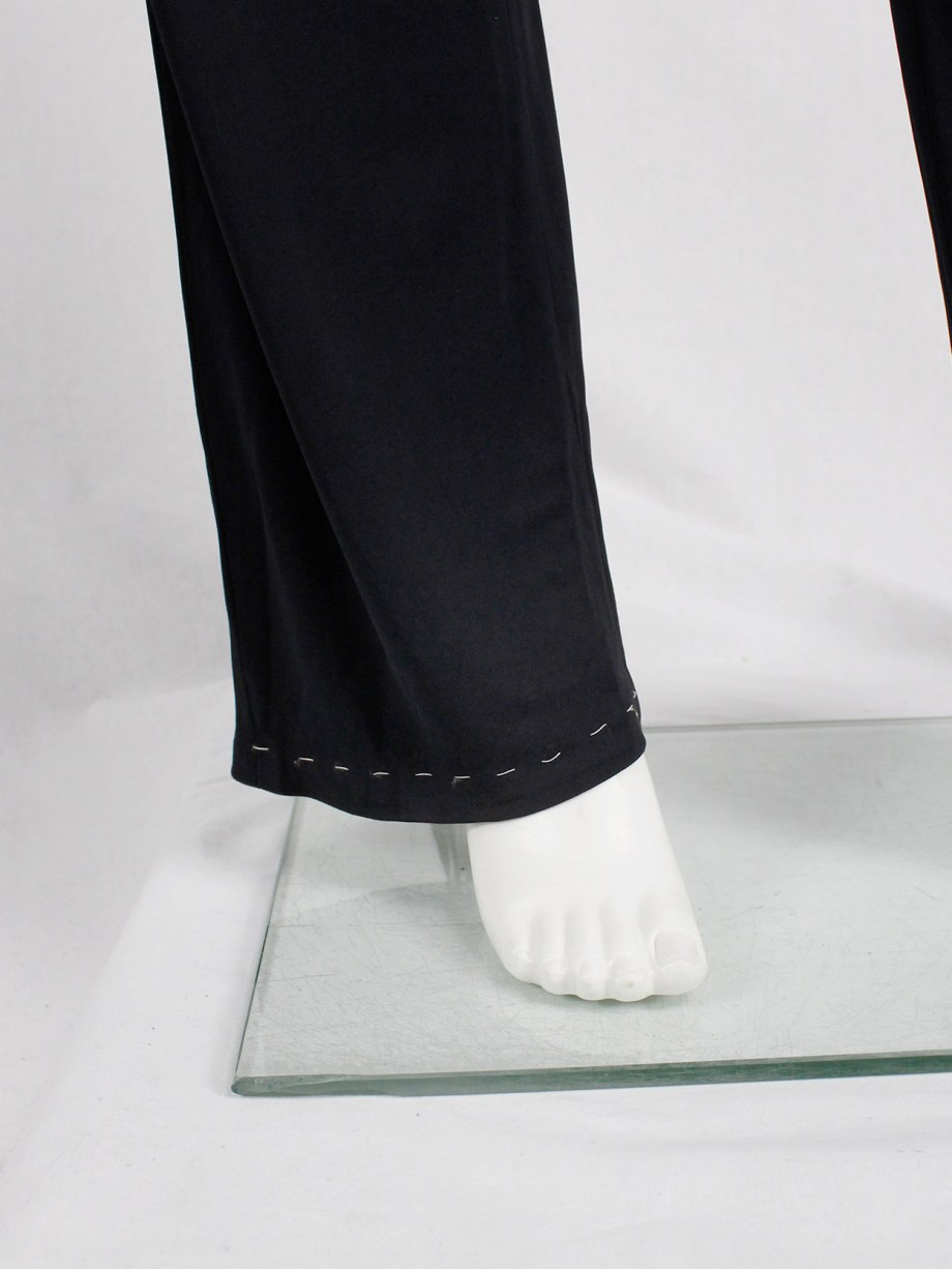 Maison Martin Margiela dark blue trousers with white exposed stitches spring 2002 (3)
