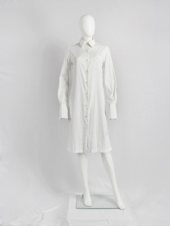 Maison Martin Margiela 4 white shirt elongated to be worn as a dress