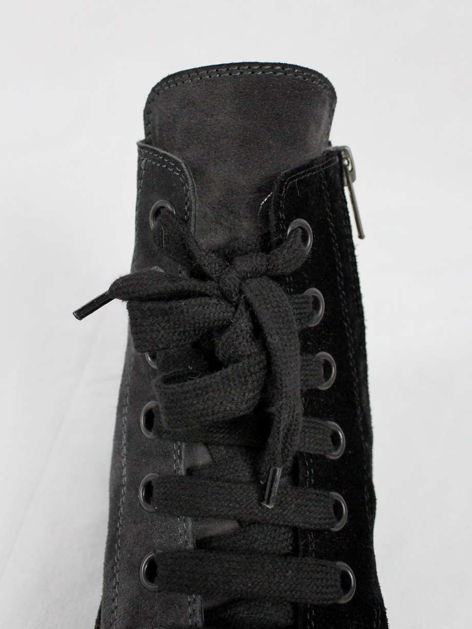 Ann Demeulemeester black and grey two-tone sneakers (37)