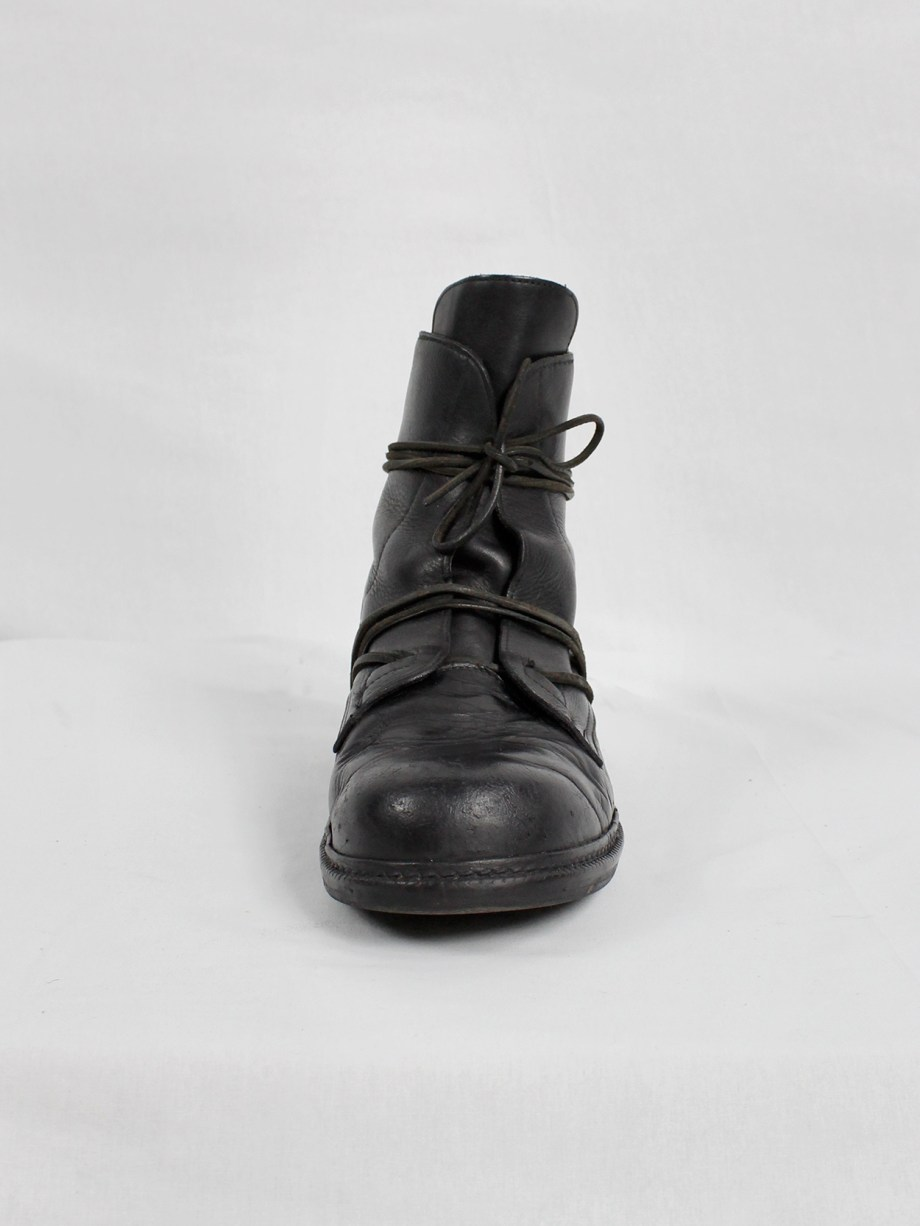 Dirk Bikkembergs black tall boots with laces through the soles (45/46) — mid 90's