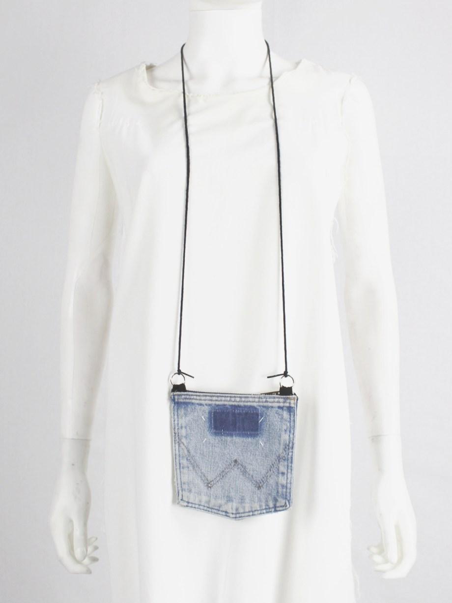 Maison Martin Margiela necklace with denim pocket pouch — spring 1999