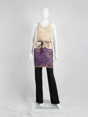 Maison Martin Margiela wrap skirt made of multiple scarfs sewn together — spring 1992