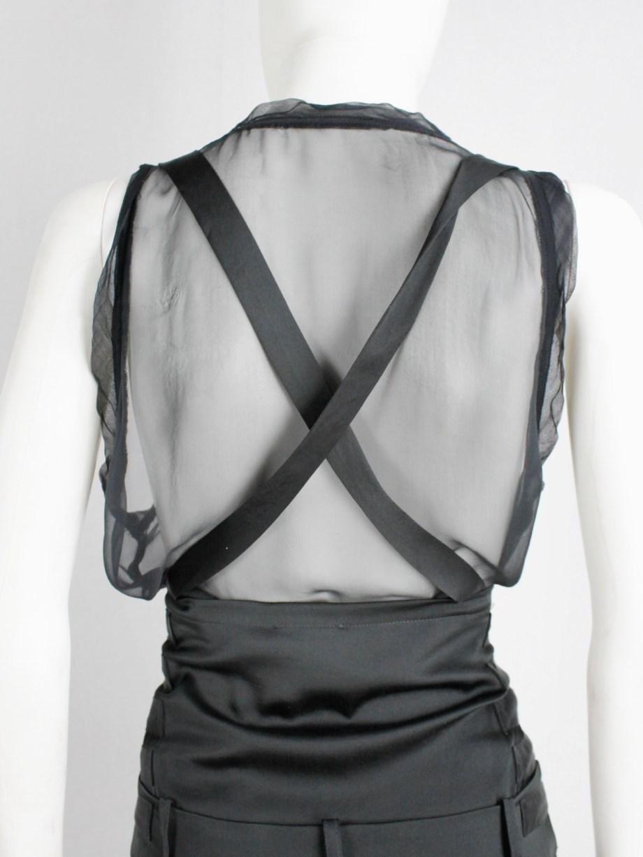 vintage Ann Demeulemeester black shorts with belt straps spring 2003 (5)