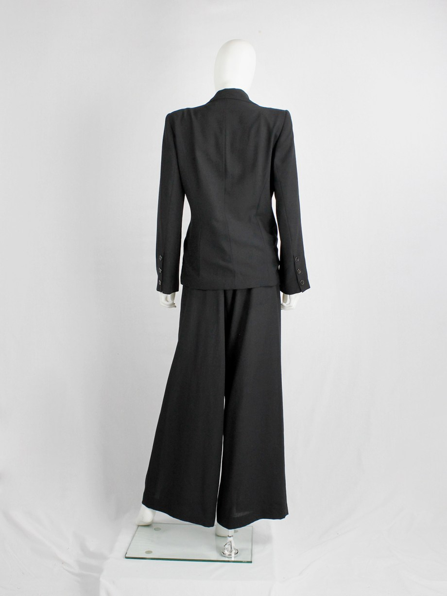 Ann Demeulemeester Blanche re-edition of a fall 1996 asymmetric black blazer (4)