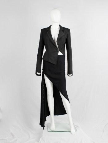 Haider Ackermann black asymmetric blazer with twisted seams — spring 2009