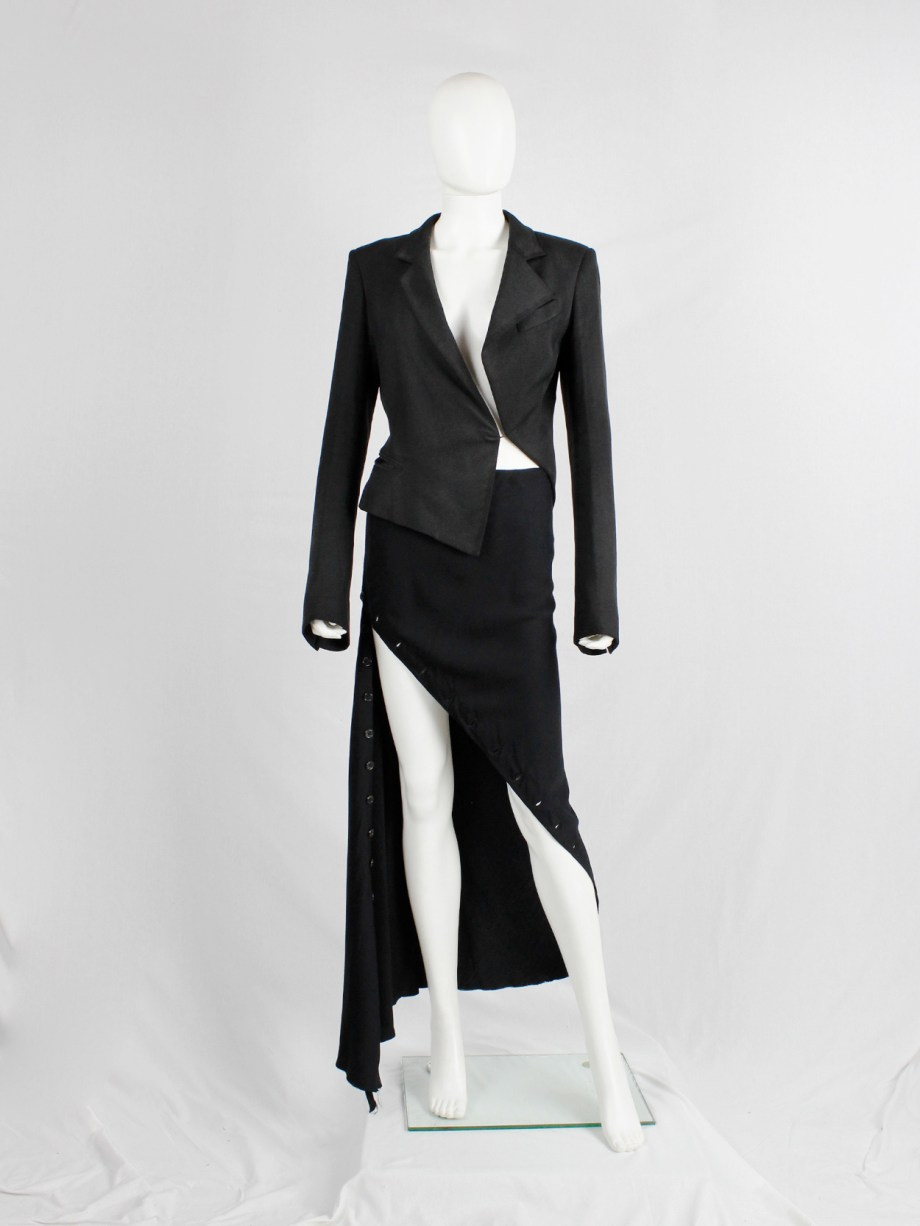 Haider Ackermann black asymmetric blazer with twisted seams spring 2009 (5)