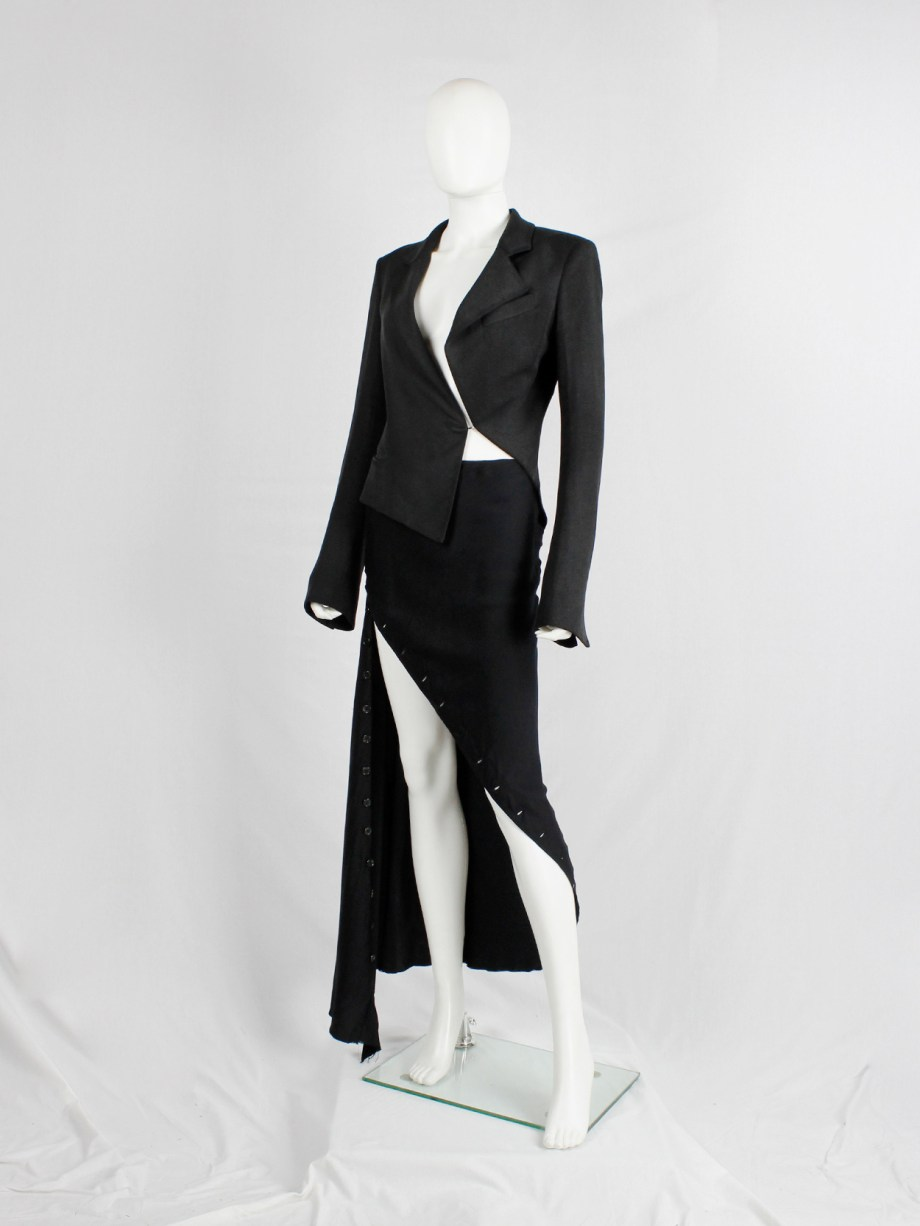 Haider Ackermann black asymmetric blazer with twisted seams spring 2009 (6)