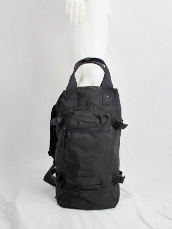 Y'SACCS Pour Tous black duffle bag with utility straps 1990s 90s