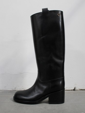 A.F. Vandevorst Black Beauty classic riding boots with brown diamond cross (38) — pair 8/12