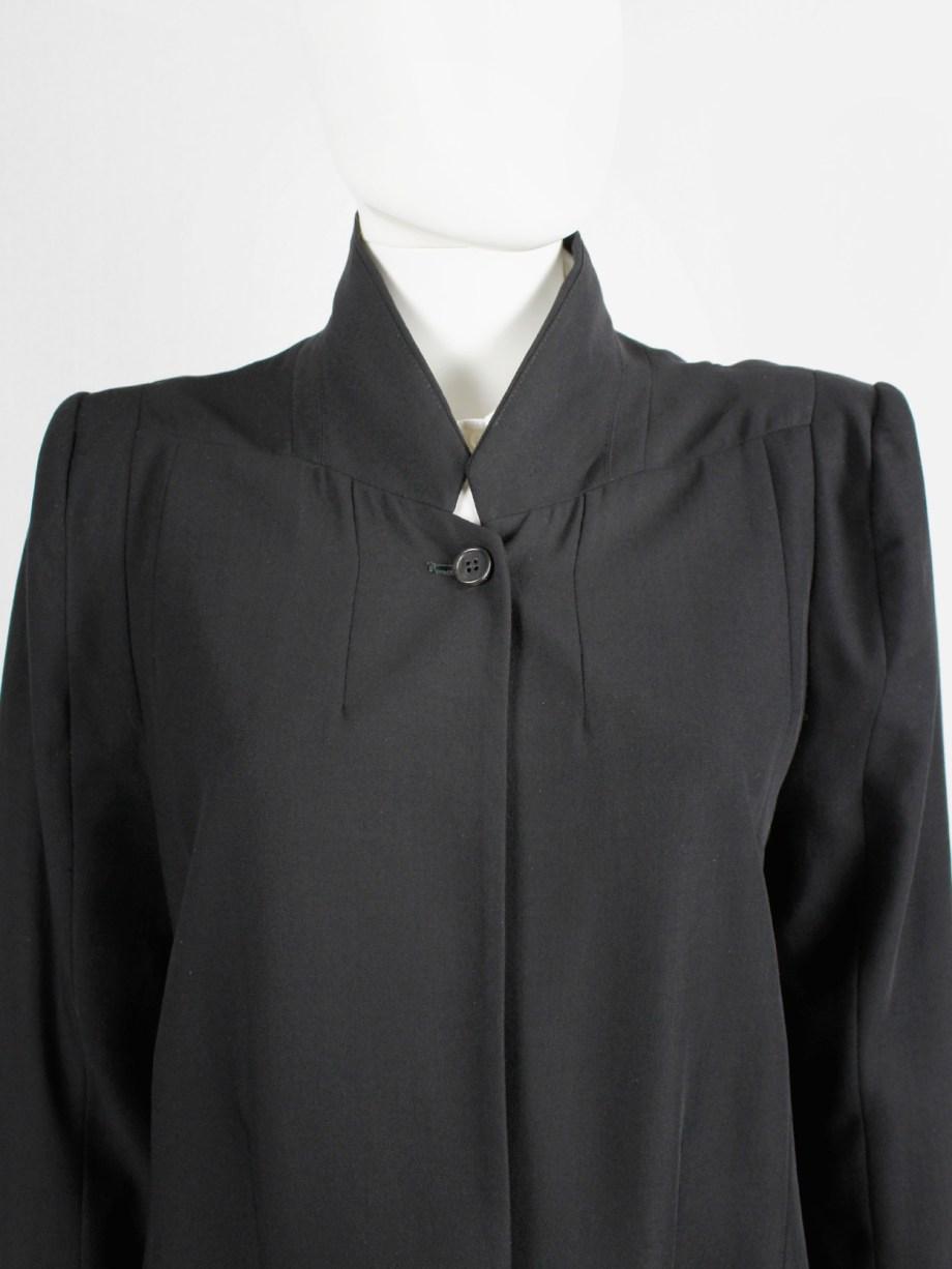 Ann Demeulemeester black oversized blazer with minimalist lapels — spring 2010