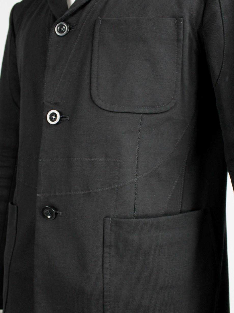 Junya Watanabe Man black blazer with biker details and panel stitching