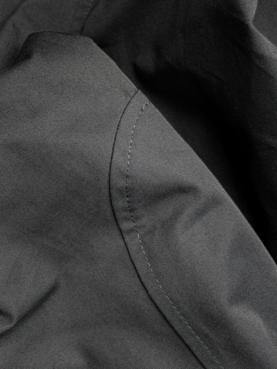 Yohji Yamamoto black horse riding trousers with panels — spring 2007