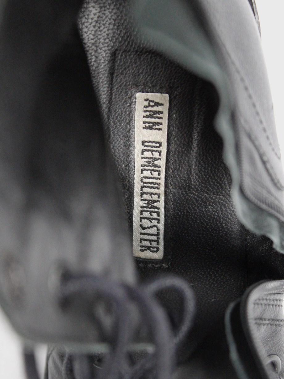 Ann Demeulemeester Blanche black corset lace sandals (40) — resort 2013