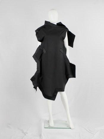 Comme des Garçons black geometric two-dimensional 'paperdoll' dress — fall 2012