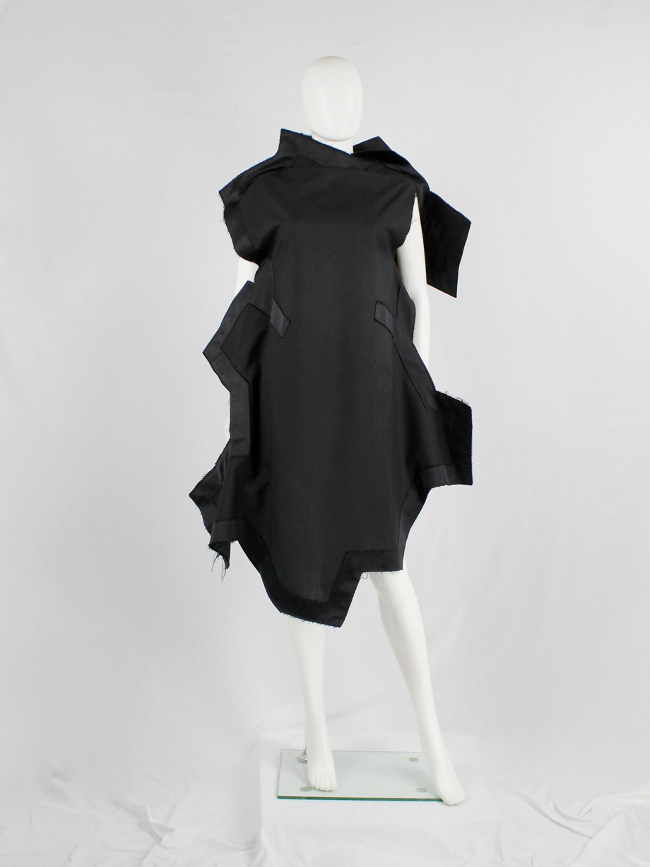 Comme des Garçons black geometric two-dimensional paperdoll dress fall 2012 (14)