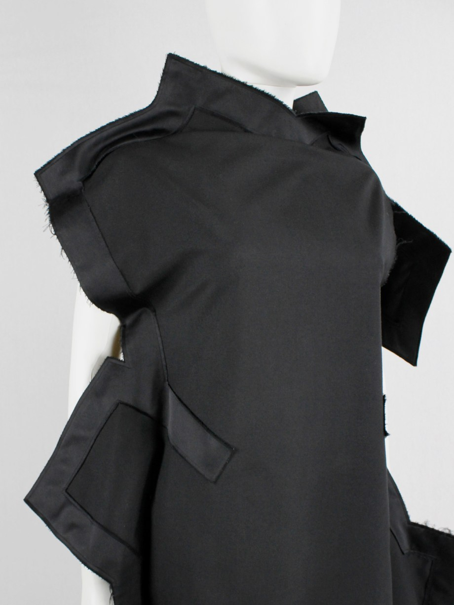 Comme des Garçons black geometric two-dimensional paperdoll dress fall 2012 (19)