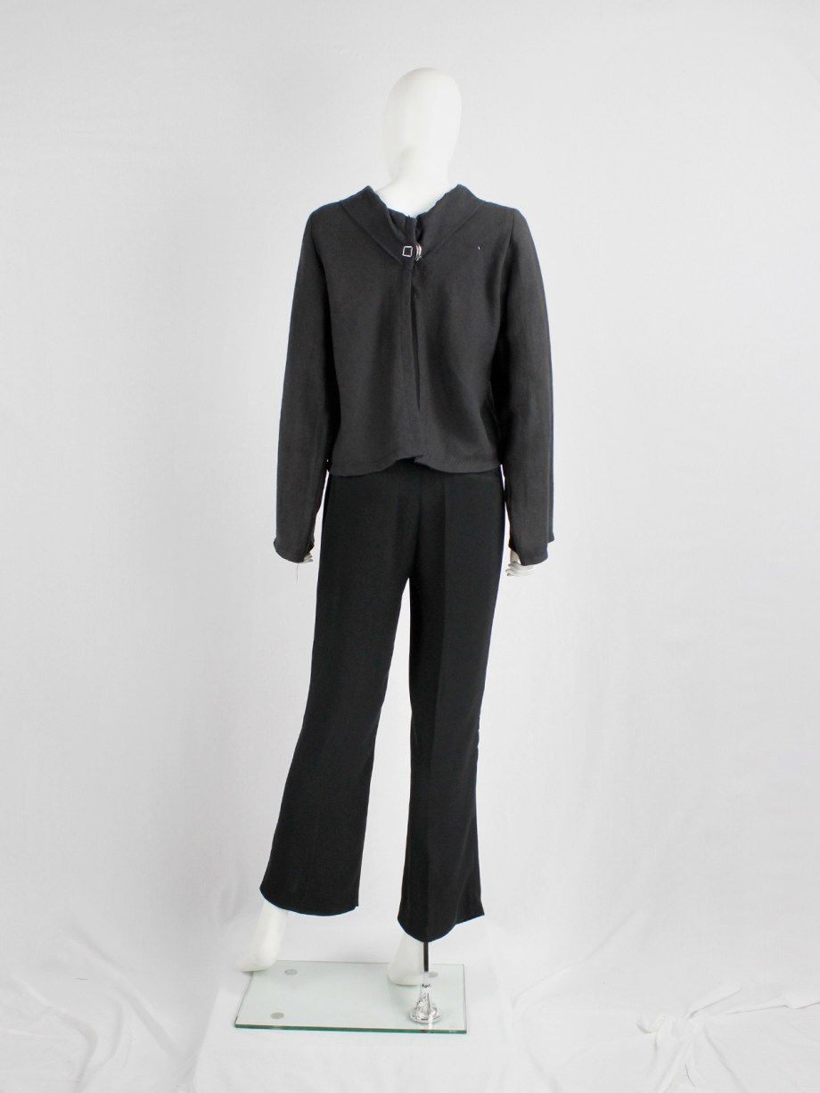 Maison Martin Margiela black trousers with seemingly stretched out knees — fall 1996