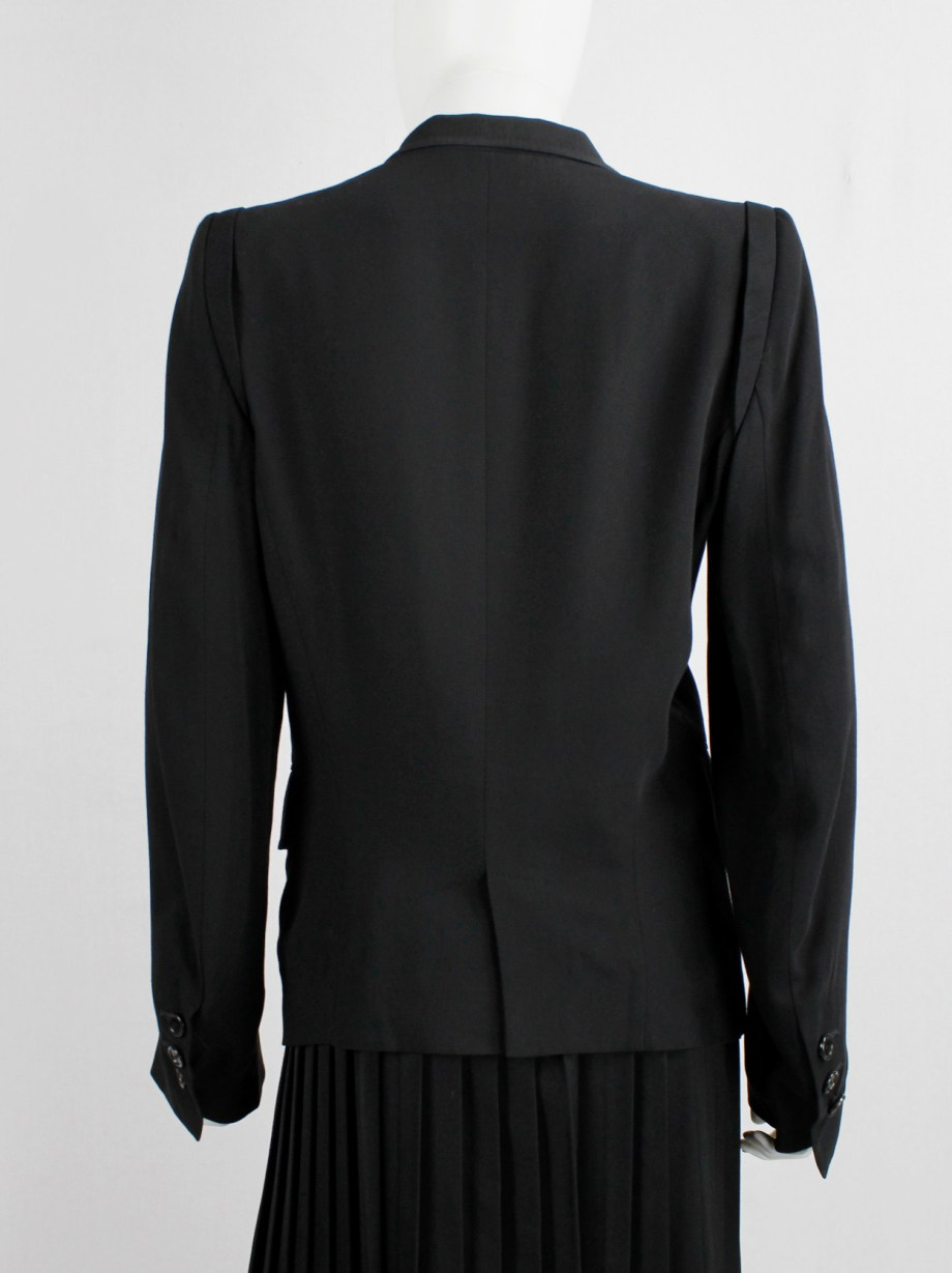 Ann Demeulemeester black classic blazer with single button closure (2)