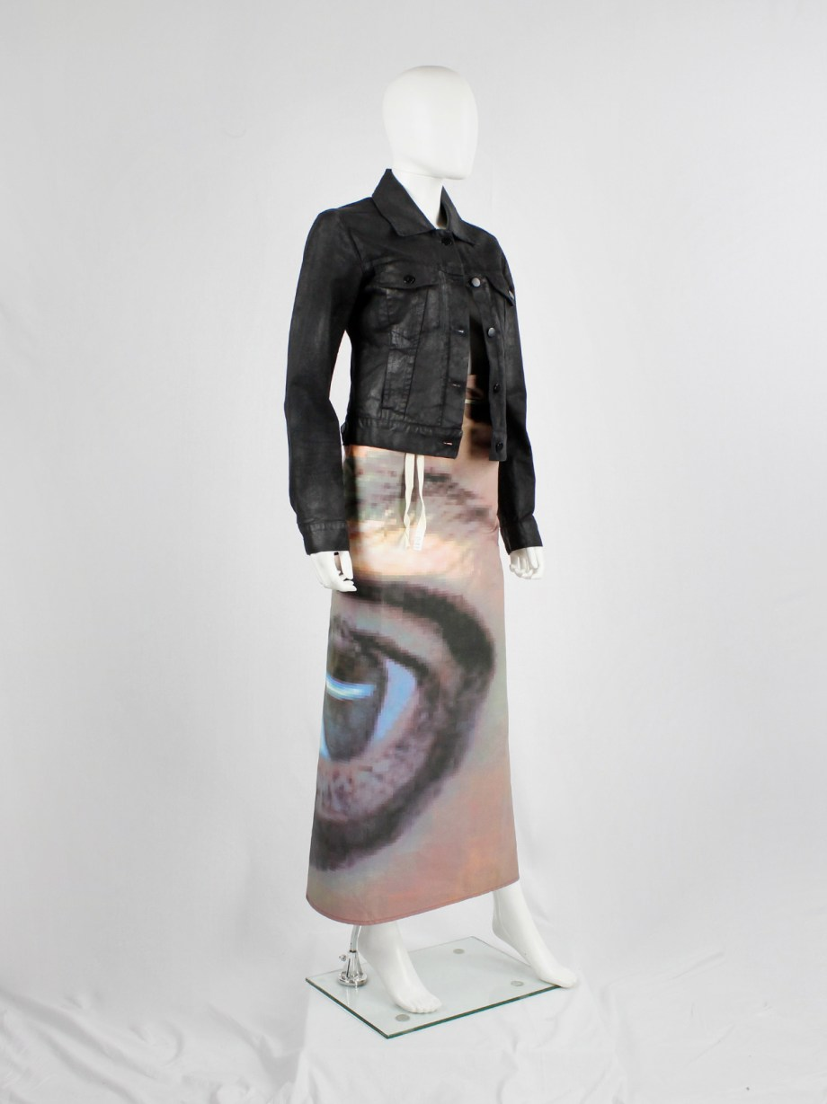 Maison Martin Margiela 6 maxi wrap skirt with a pixelated print of an eye 2003 (6)