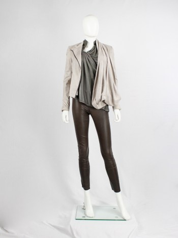 Haider Ackermann dark brown leather leggings