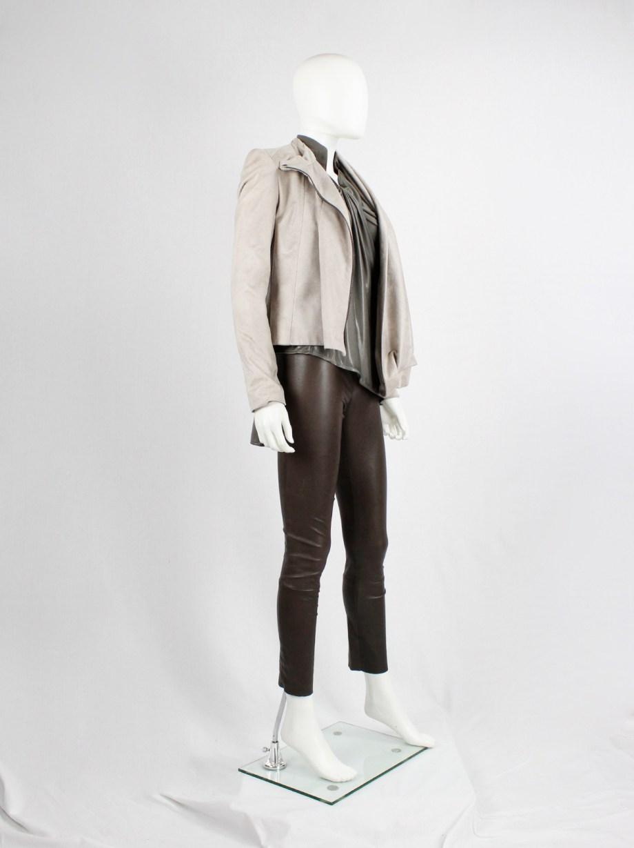 Haider Ackermann dark brown leather leggings