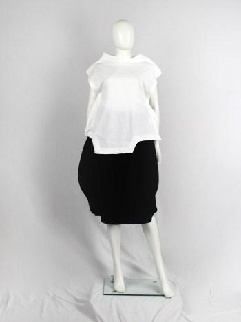 Comme des Garçons white geometric two-dimensional paperdoll top — fall 2012