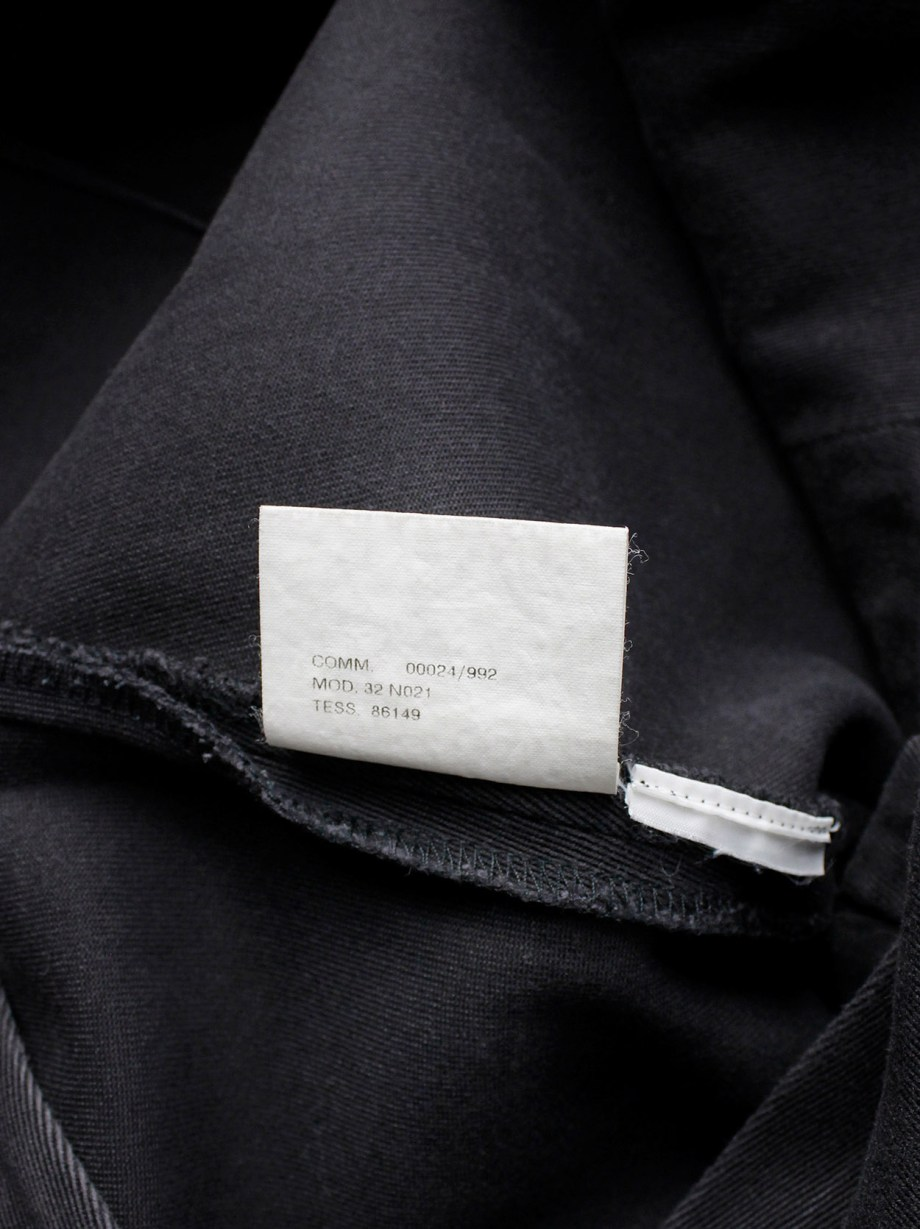 Maison Martin Margiela 6 dark grey waistless maxi skirt with fake pockets — fall 1999