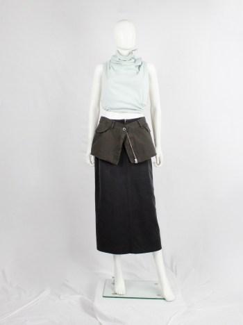 Maison Martin Margiela 6 grey trousers cut into a micro skirt belt — fall 2006