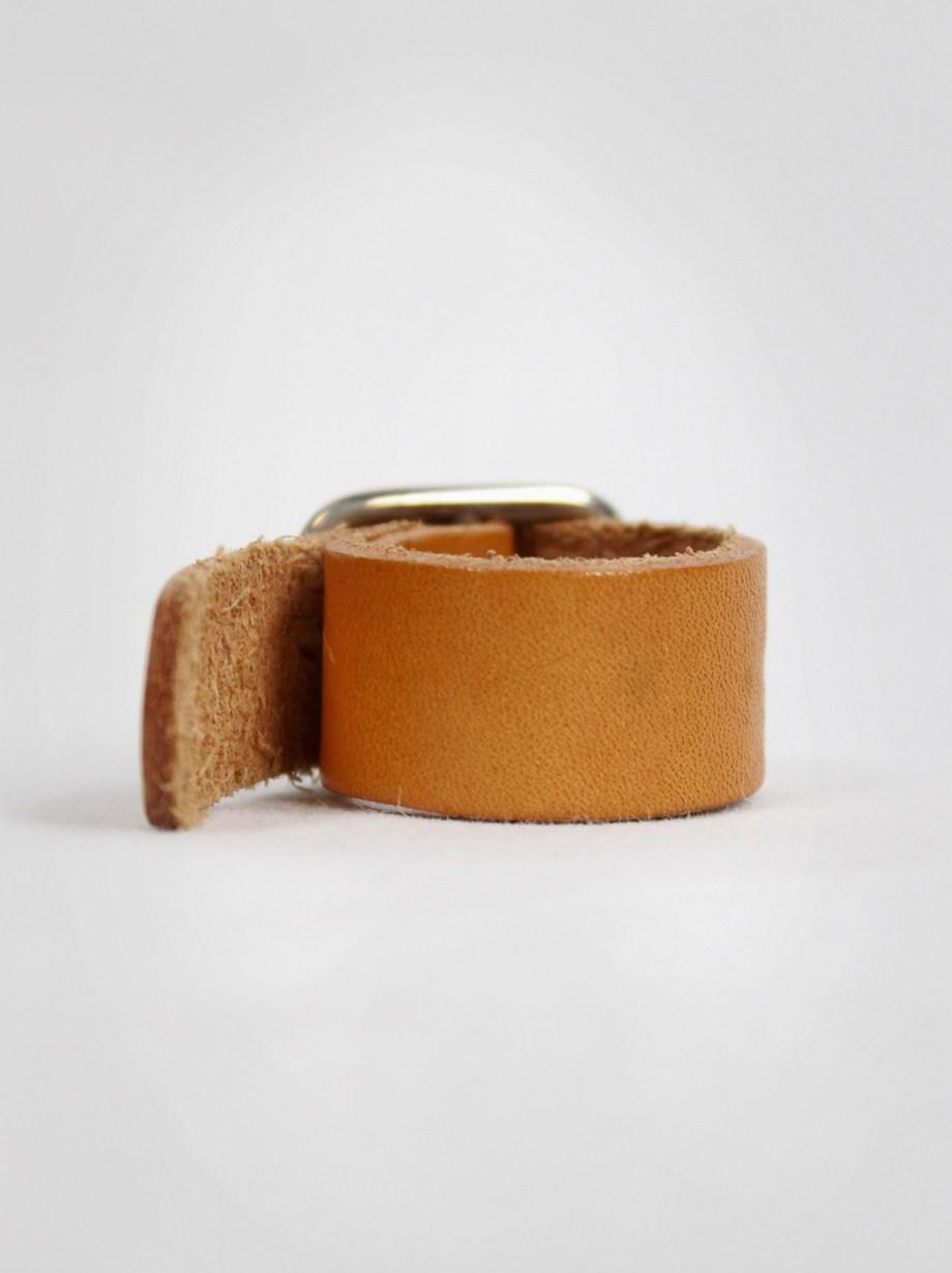 Maison Martin Margiela cognac brown belt as ring 1999 2002 (7)