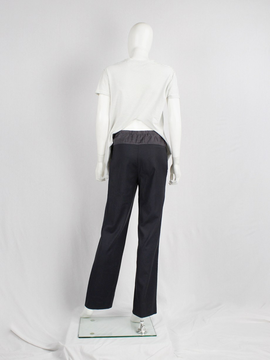 Maison Martin Margiela grey-green trousers with lining back panel — fall 2003