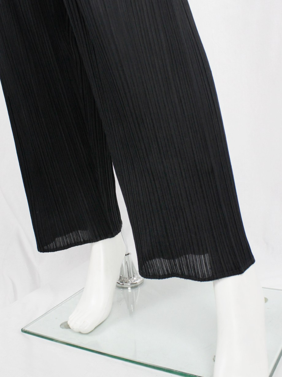 Issey Miyake Pleats Please dark navy pleated jumpsuit with front zipper