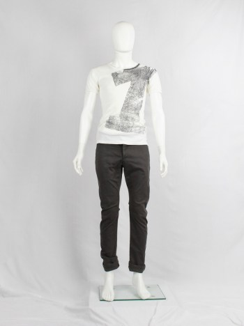 Maison Martin Margiela artisanal white t-shirt with number 1 print — spring 2003