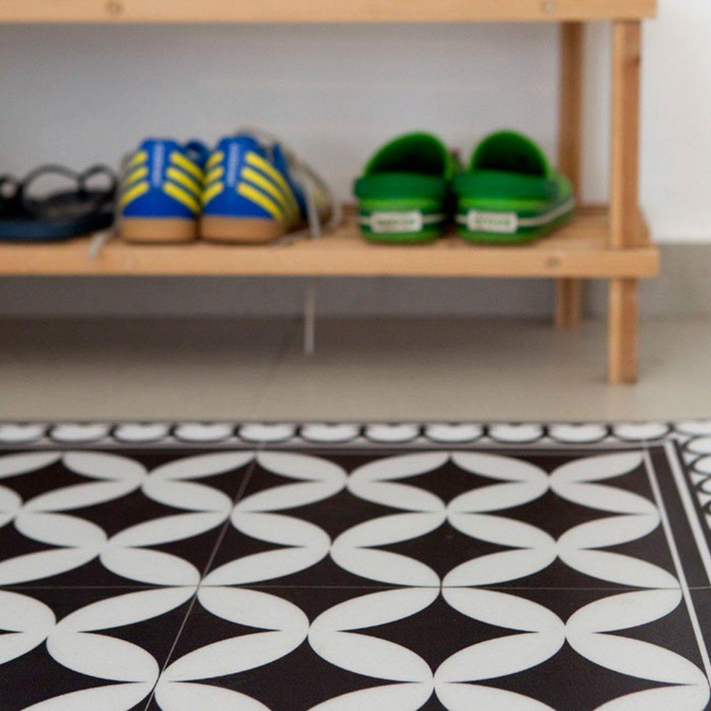 pvc vinyl mat tiles pattern decorative linoleum rug color black white 132 pvc rug kitchen mat free shipping