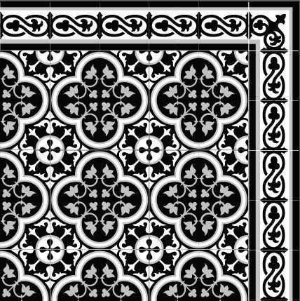 black and white vinyl tiles mat tiles pattern decorative pvc kitchen mat design 180