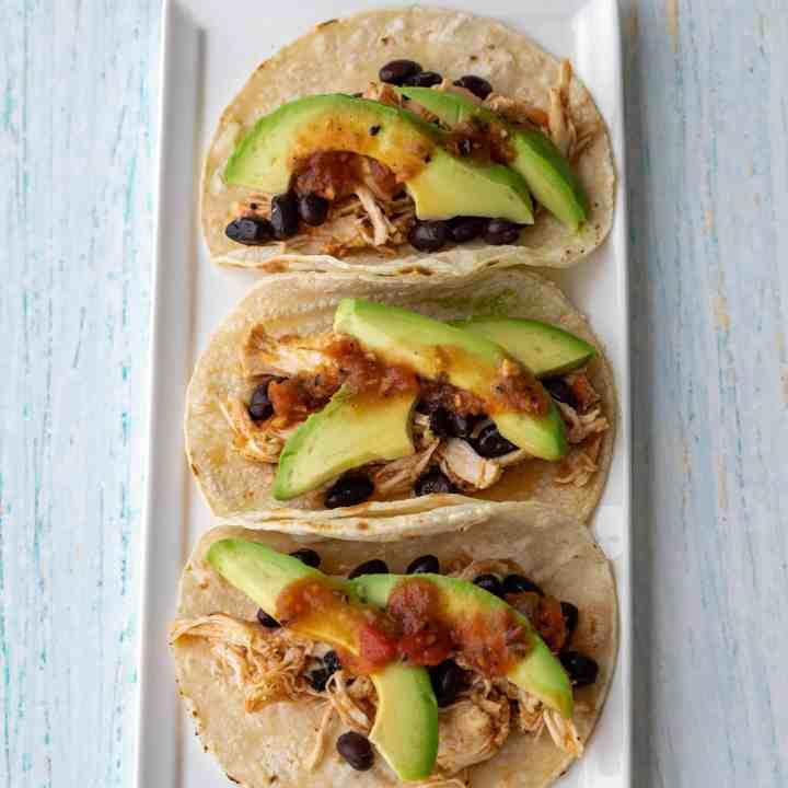 5-Ingredient Slow Cooker Chicken Tacos