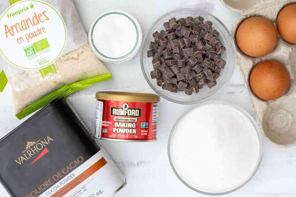 ingredients for almond flour chocolate cake