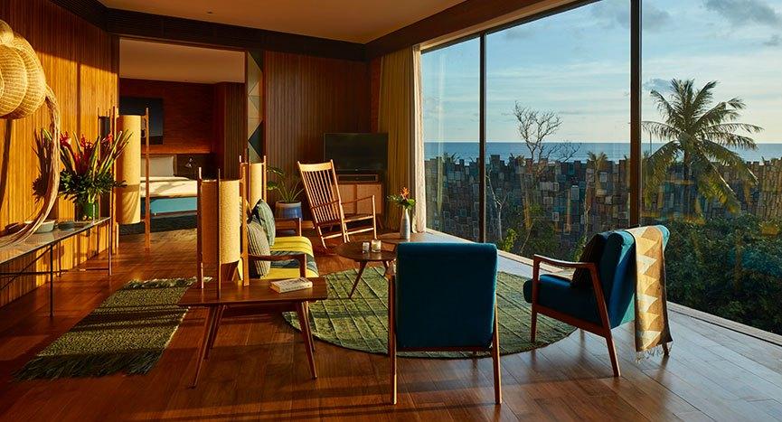 Katamama Bali suite living area