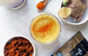 Golden Pili Nut Ginger and Turmeric Latte Recipe