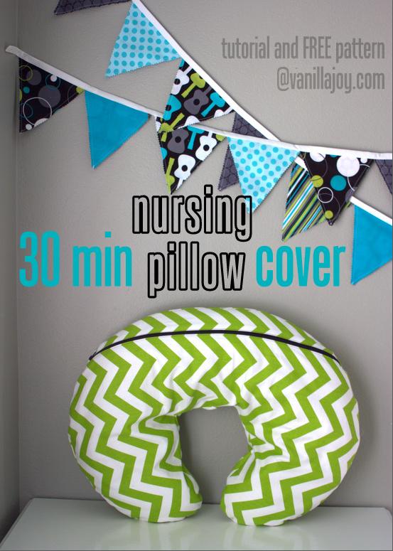 free nursing pillow slipcover pattern and tutorial