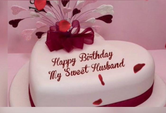 8 Romantic Birthday Cake Wishes For Husband