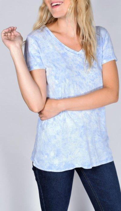 French Blue V-Neck T-Shirt
