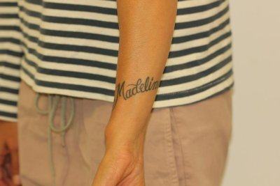 Black Wrist Name Tattoos Before Laser Tattoo Removal 2
